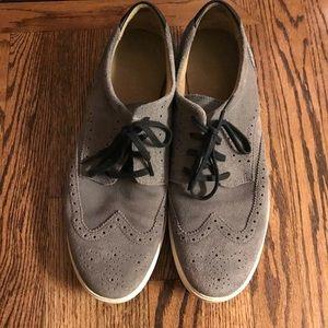 Cole Haan gray suede oxfords